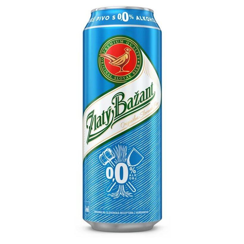 Zlatý Bažant svetlé nealkoholické pivo 500 ml