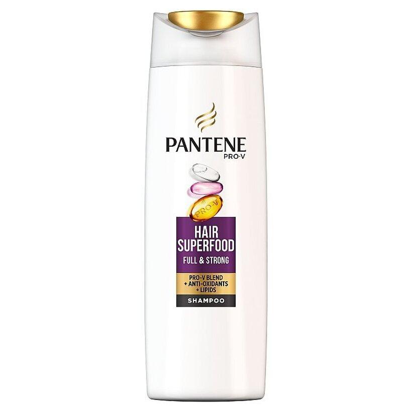 Pantene Pro-V Superfood Šampón, 400 ml, Na Oslabené, Jemné Vlasy