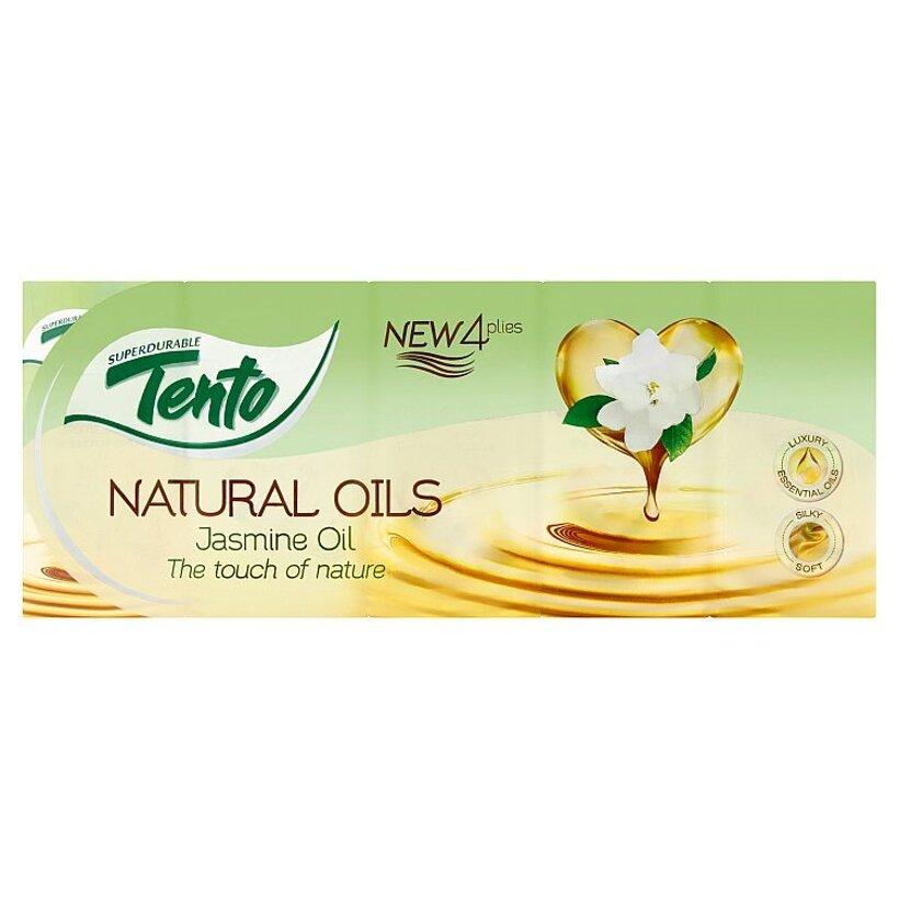 Tento Natural Oils Jasmine Oil hygienické vreckovky 4 vrstvové 10 x 10 ks