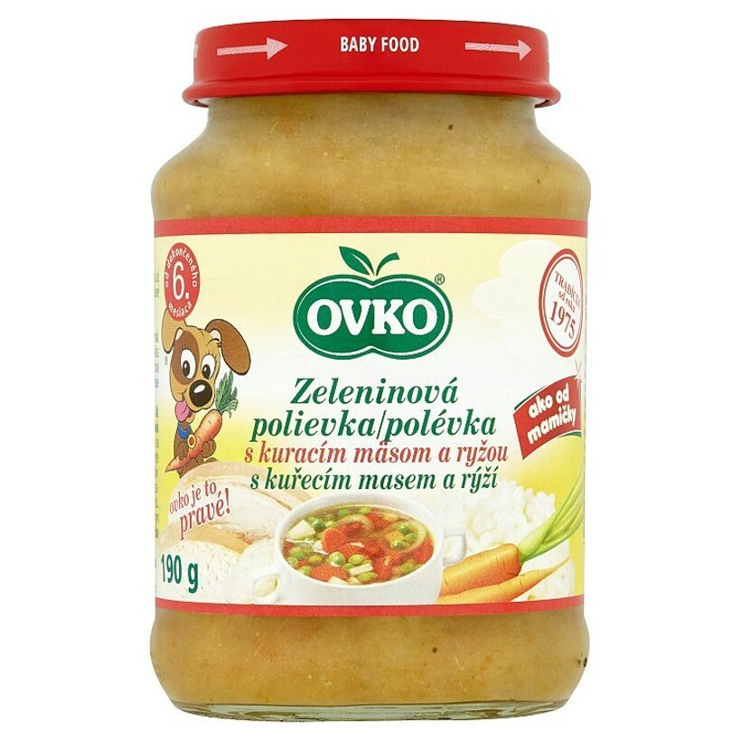 Ovko Zeleninová polievka s kuracím mäsom a ryžou 190 g