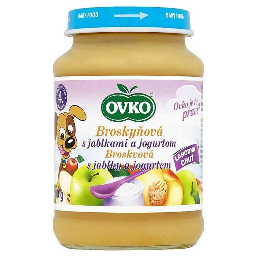 Ovko Broskyňová s jablkami a jogurtom 190 g