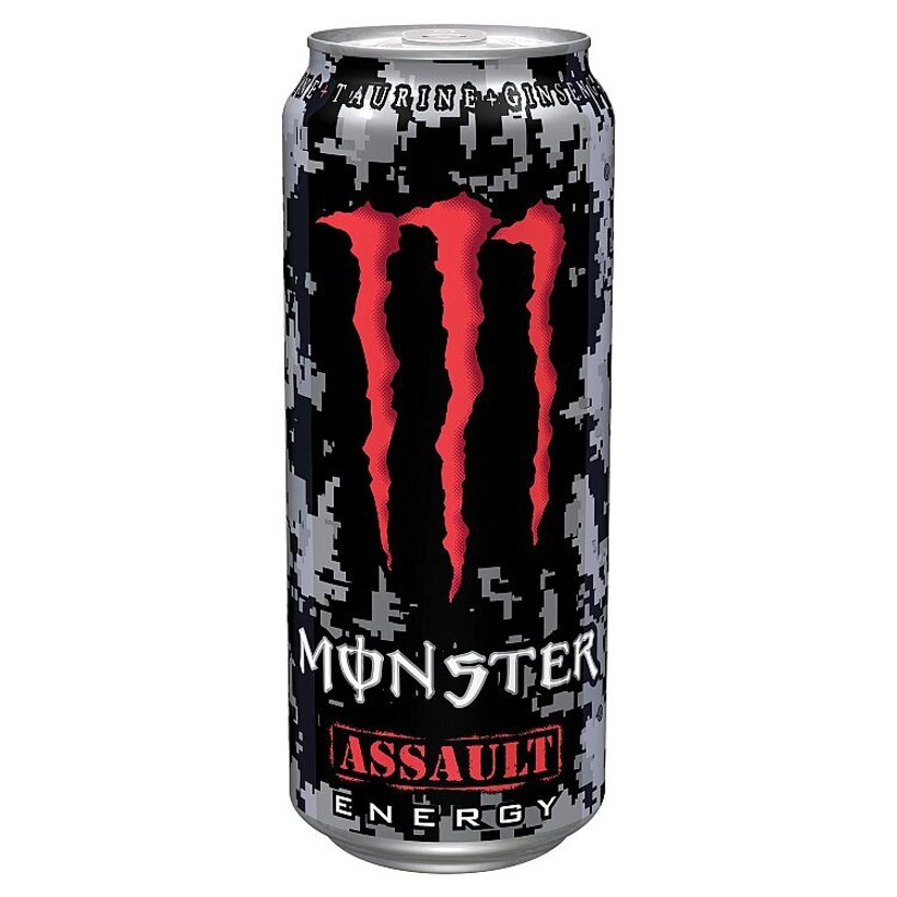 Monster Energy Assault Energy sýtený energetický nápoj 500 ml