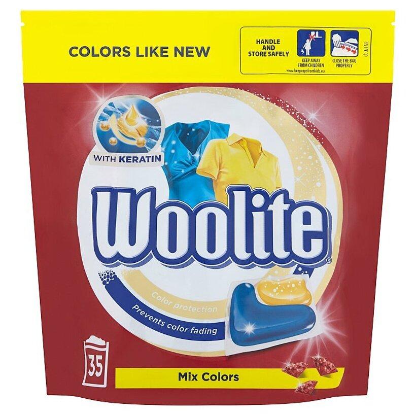 Woolite Mix Colors gélové kapsuly na pranie 35 praní 770 g