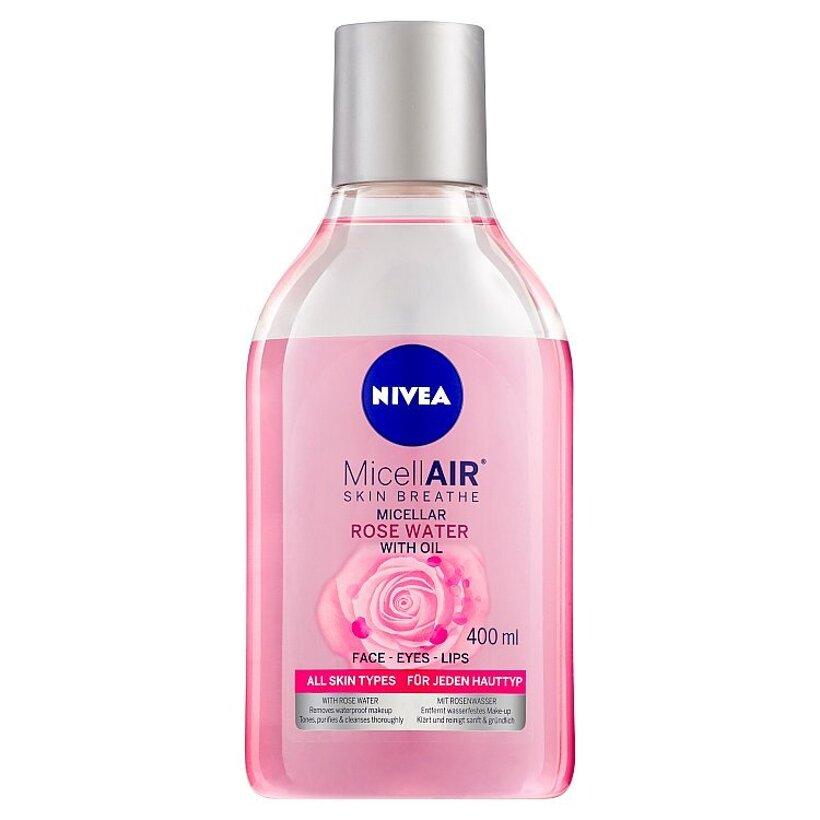 Nivea MicellAir Dvojfázová čistiaca micelárna voda s ružovou vodou 400 ml