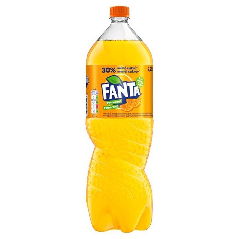 Fanta, pomarančová limonáda, 2,25 l