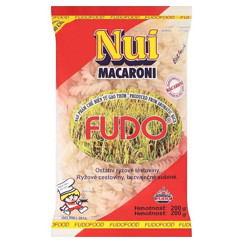 Fudo Nui Macaroni ryžové cestoviny bezvaječné sušené 200 g