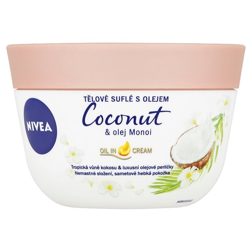 Nivea Telové suflé s olejom kokos & olej Monoi 200 ml