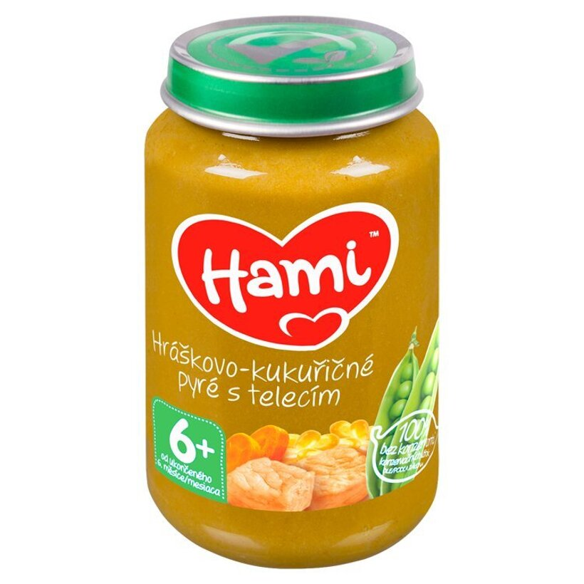 Hami príkrm Hráškovo-kukuričné pyré s teľacím 200 g