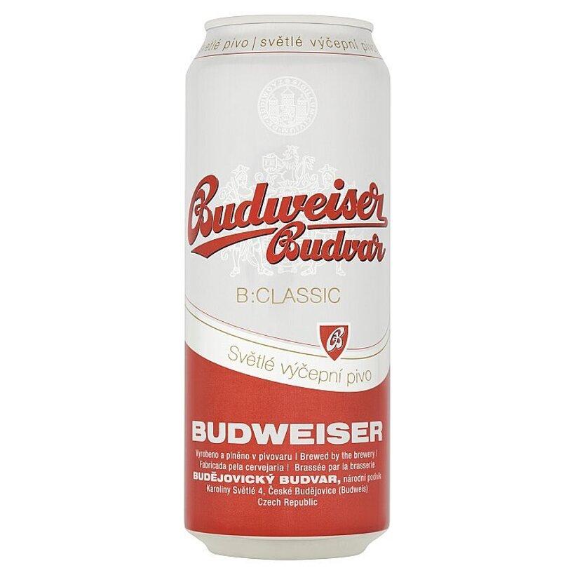 Budweiser Budvar B:Classic svetlé výčapné pivo 500 ml