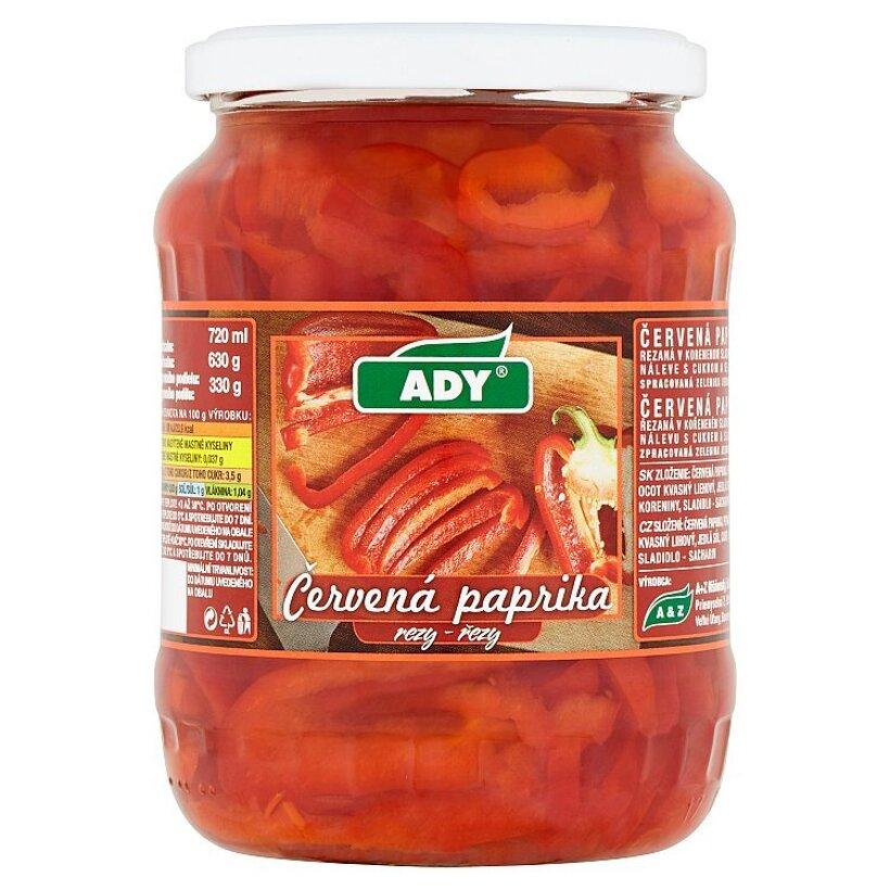 Ady Červená paprika rezy 630 g