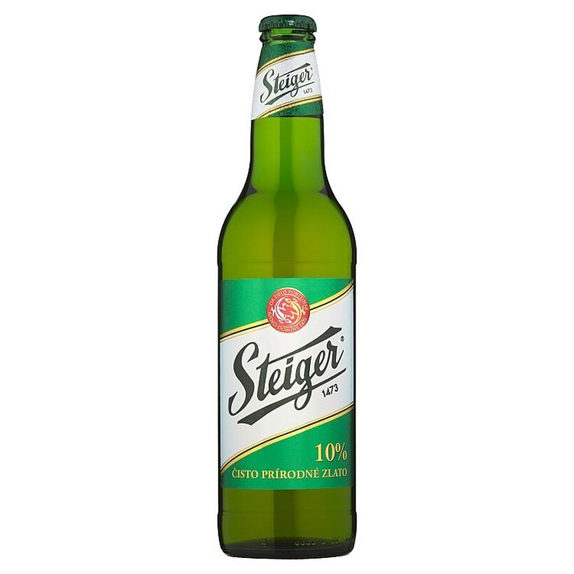 Steiger Pivo výčapné 10% svetlé 0,5 l