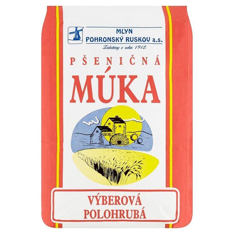 Mlyn Pohronský Ruskov Pšeničná múka výberová polohrubá 1 kg