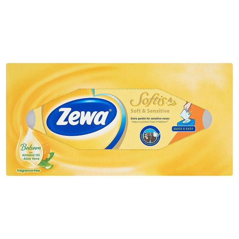 Zewa Softis Soft & Sensitive papierové vreckovky 4-vrstvové 80 ks