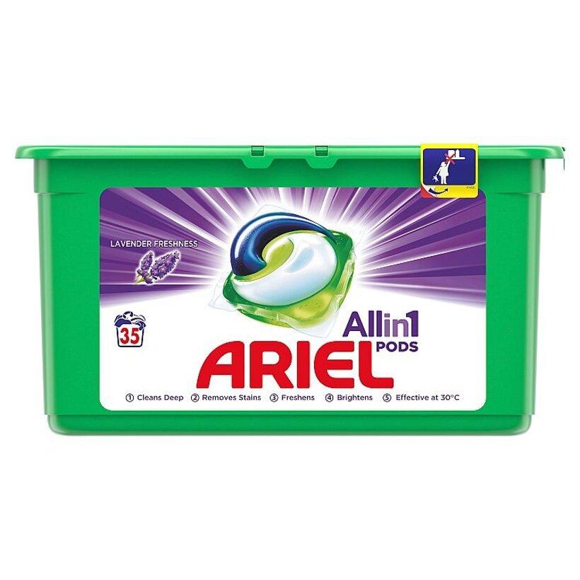 Ariel All In 1 Pods Lavender, Gélové Kapsuly Na Pranie, 35 Praní
