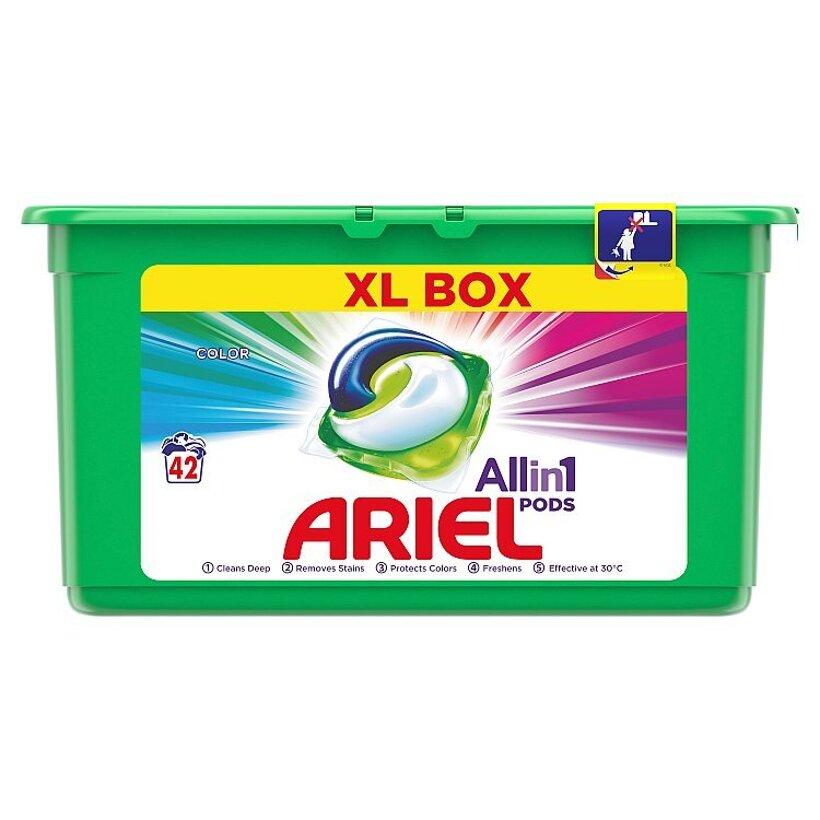 Ariel All In 1 Pods Color, Gélové Kapsuly Na Pranie, 42 Praní
