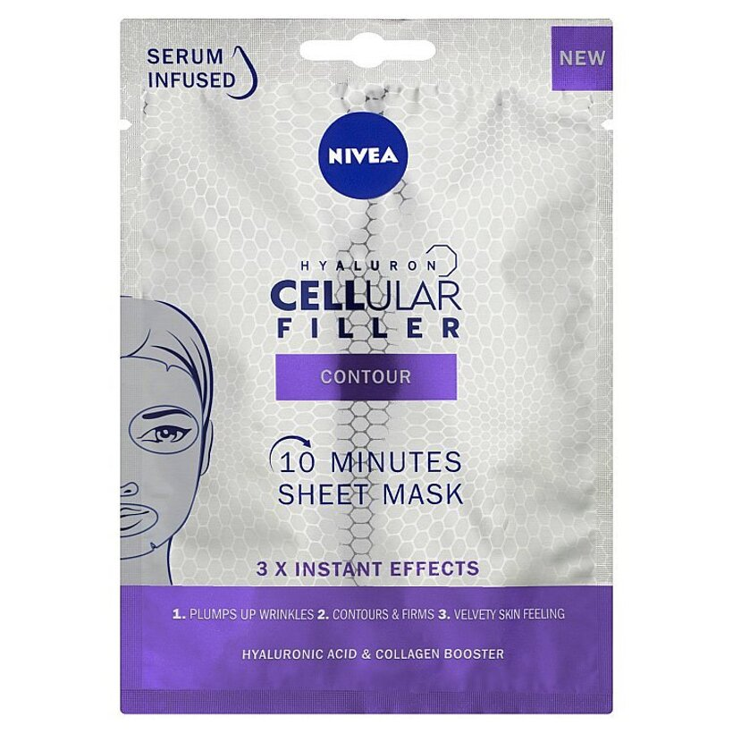 Nivea Hyaluron Cellular Filler 10-minútová textilná maska 1 ks