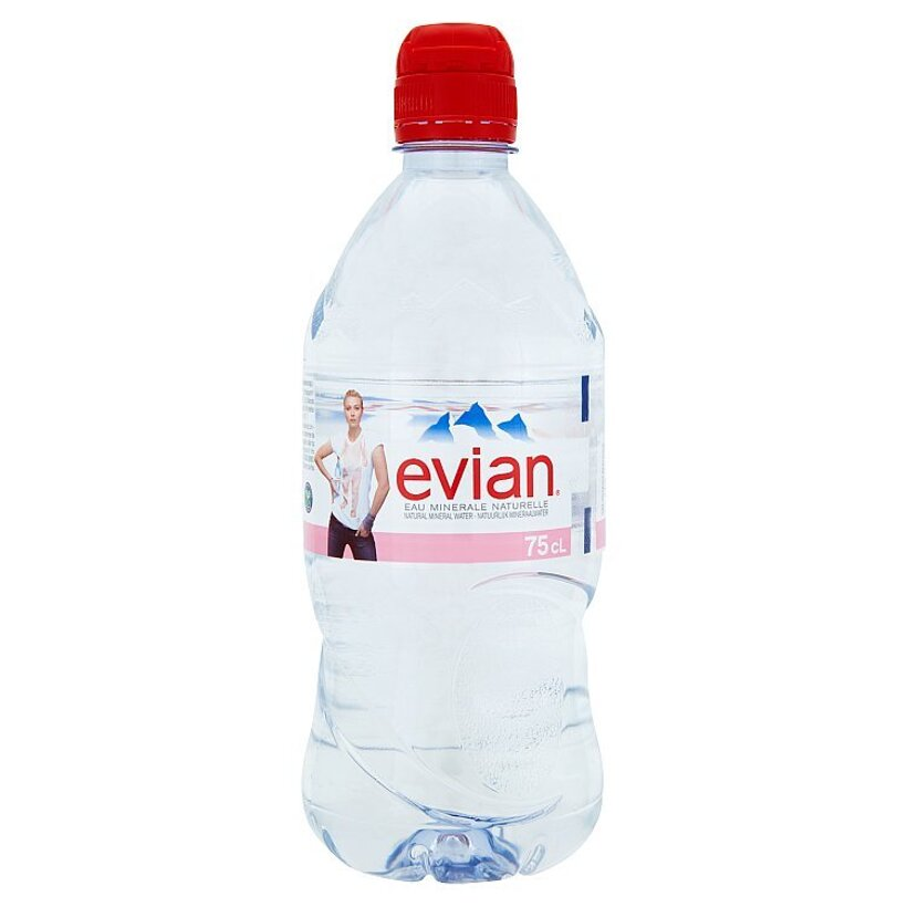 Evian Prírodná minerálna voda nesýtená 0,75 l