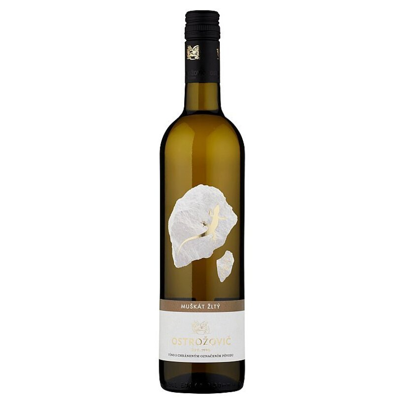 Ostrožovič Muškát žltý víno biele polosuché 0,75 l