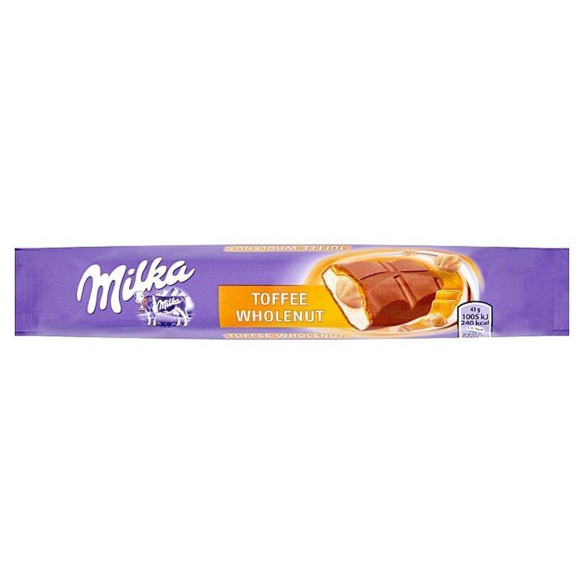 Milka Toffee wholenut mliečna čokoláda z alpského mlieka s karamelovou príchuťou 43 g