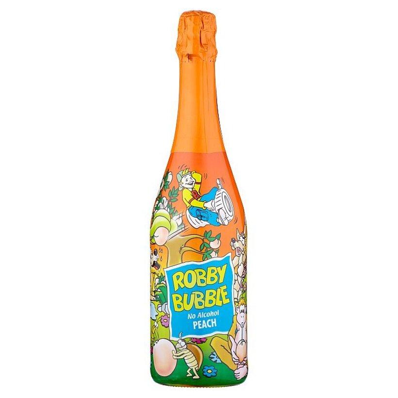 Robby Bubble Peach sýtený nealkoholický nápoj ochutený 0,75 l
