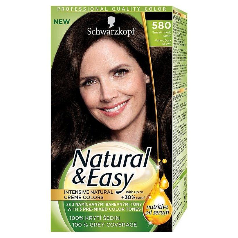 Schwarzkopf Natural & Easy farba na vlasy Tmavohnedý Zamat 580