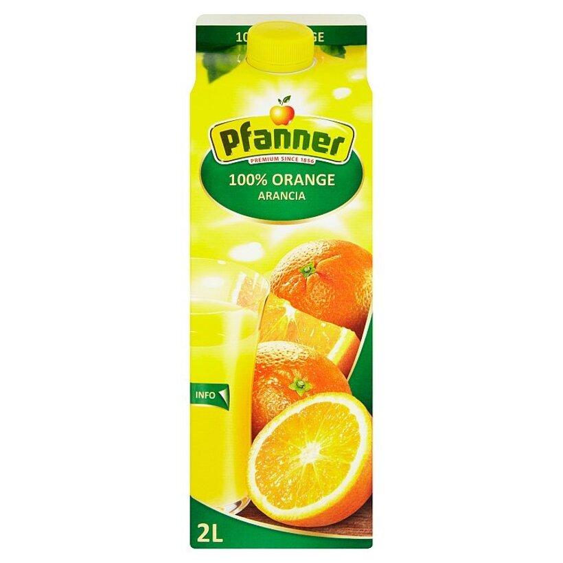 Pfanner 100% pomarančová šťava 2 l