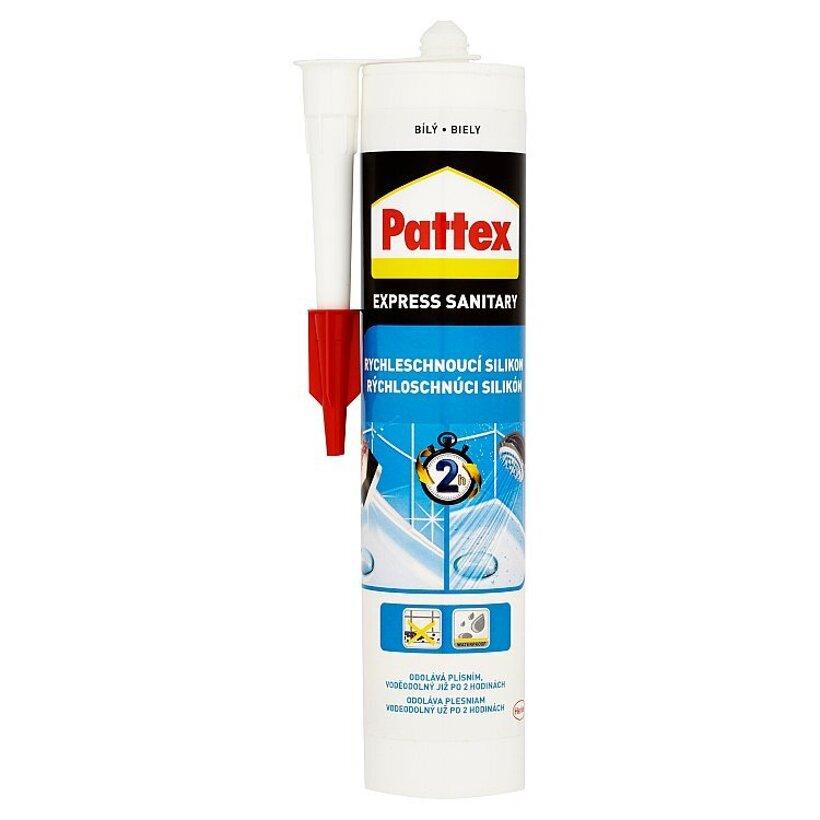 Pattex Express Sanitary rýchloschnúci silikón biely 280 ml