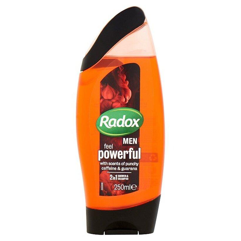 Radox Men Feel powerful 2v1 pánsky sprchovací gél a šampón 250 ml