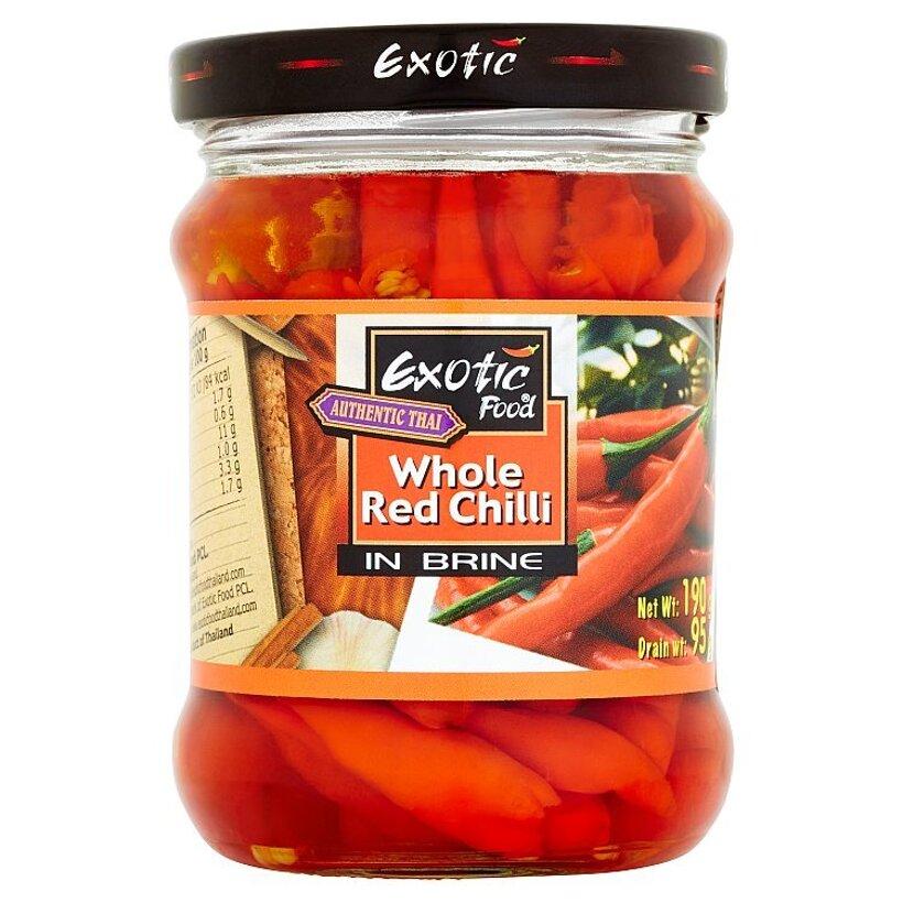Exotic Food Authentic thai červené čili papričky v slanom náleve štipľavé 190 g