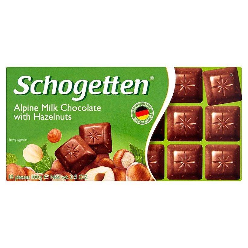 Schogetten Mliečna čokoláda s mletými jadrami lieskových orieškov 100 g