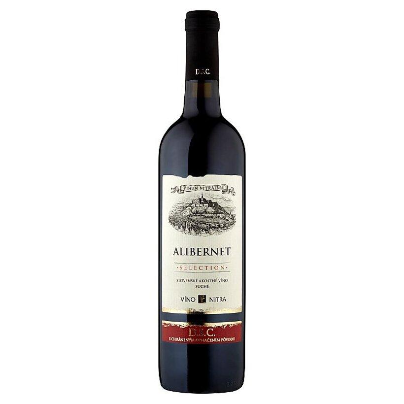 Víno Nitra Selection Alibernet slovenské akostné odrodové víno červené suché 0,75 l