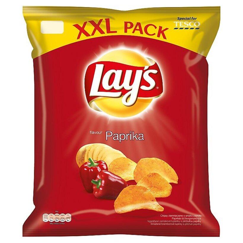 Lay's XXL vyprážané zemiakové lupienky s príchuťou papriky 240 g