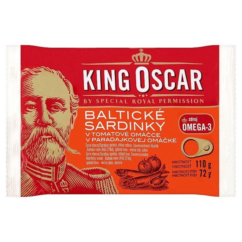 King Oscar Baltické sardinky v paradajkové omáčke 110 g