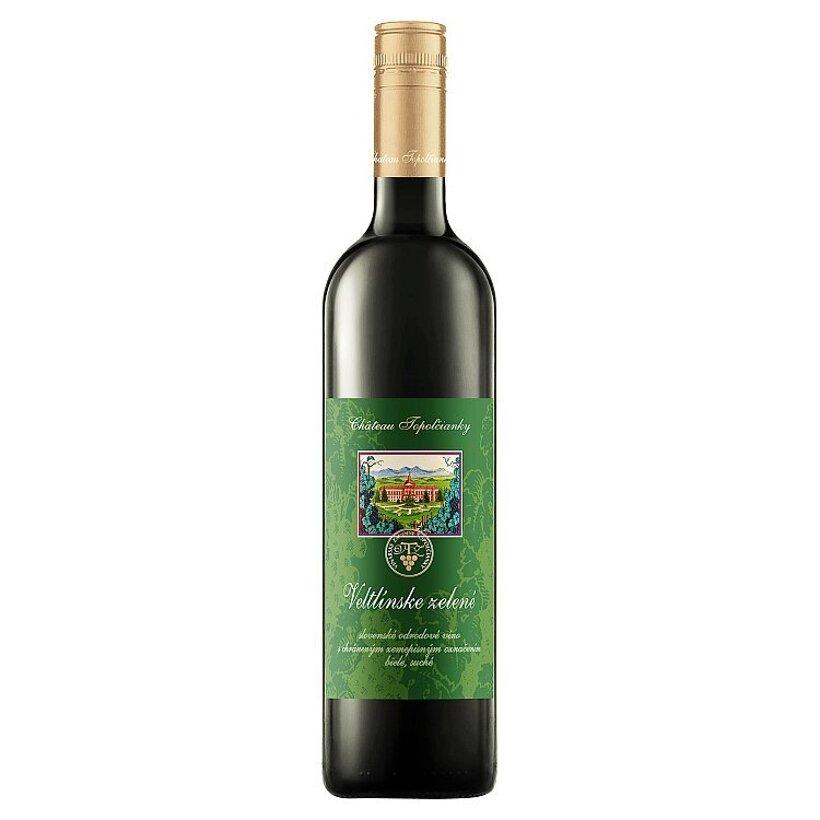 Château Topoľčianky Veltlínske zelené slovenské odrodové víno biele suché 0,75 l