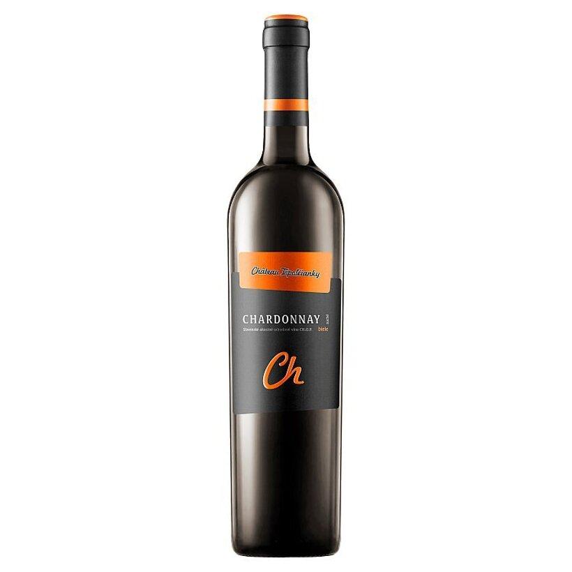 Château Topoľčianky Chardonnay slovenské akostné odrodové víno CH.O.P. suché biele 0,75 l