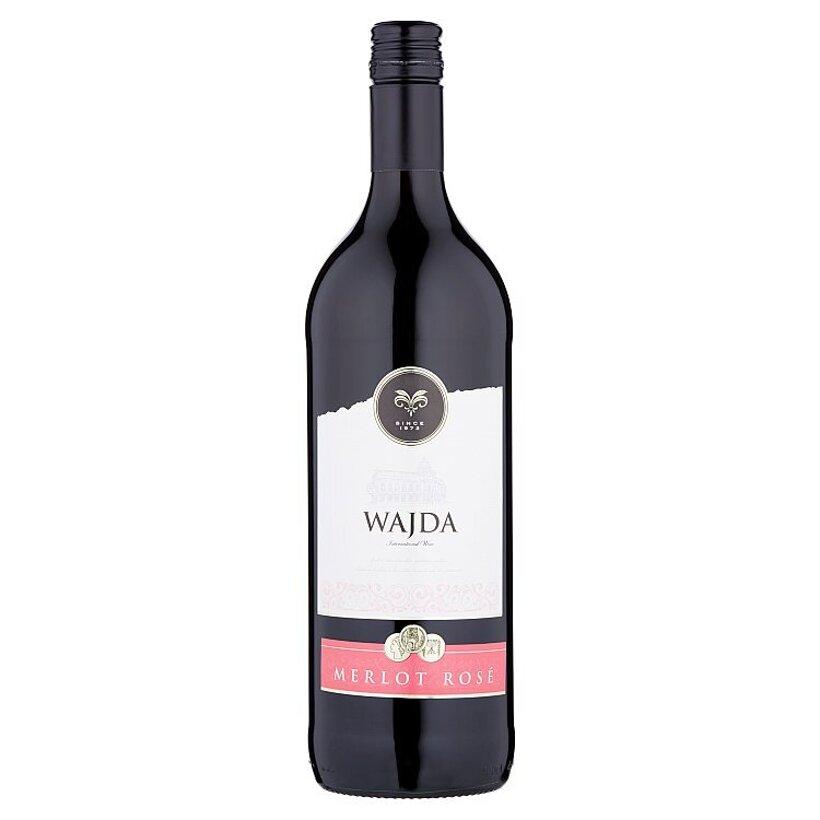 Wajda Merlot Rosé ružové víno suché 1 l