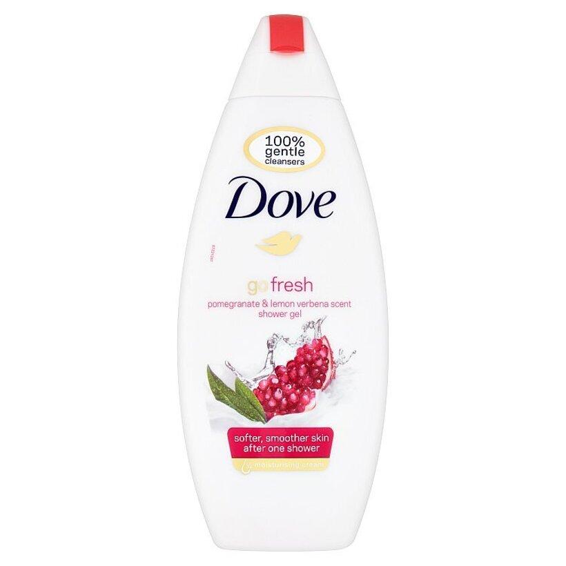 Dove Go Fresh Vyživujúci sprchovací gél granátové jablko a citrónová tráva 250 ml