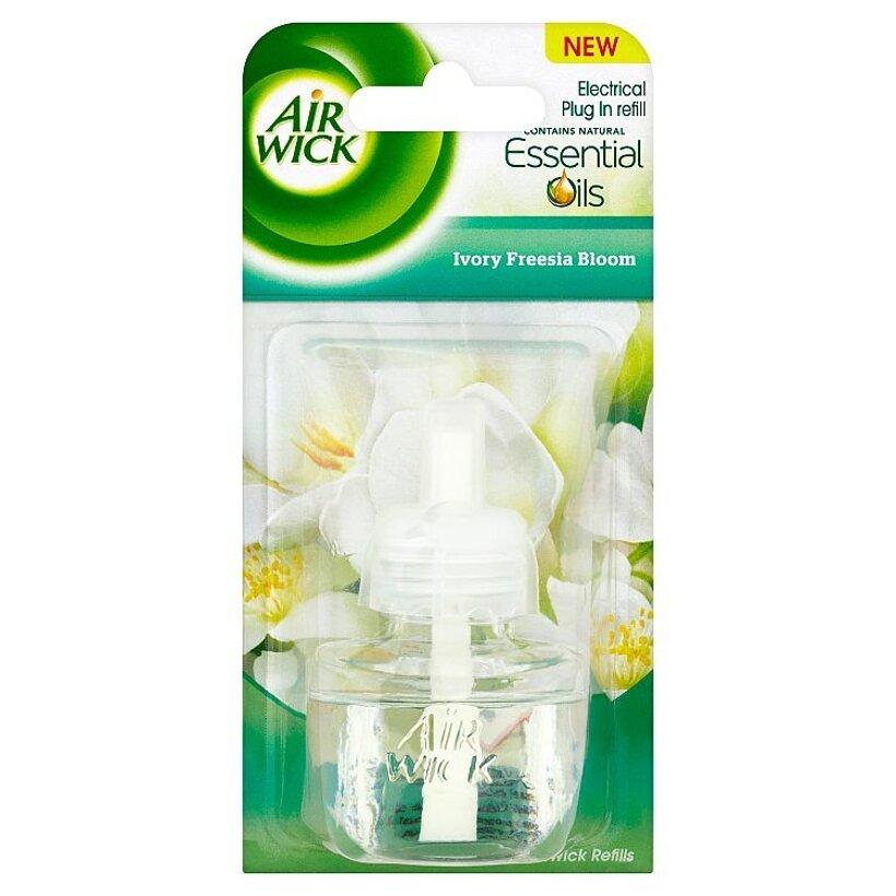 Air Wick Essential Oils Tekutá náplň do elektrického prístroja biele kvety frézie 19 ml