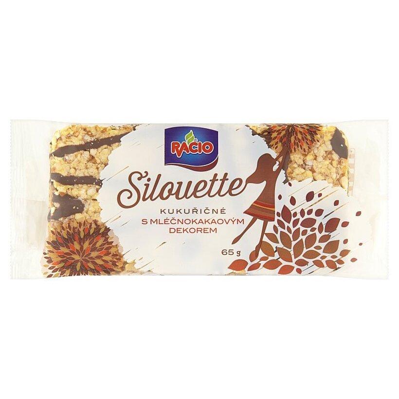 Racio Silouette Kukurično pohánkové chlebíčky s mliečnokakaovou polevou 65 g