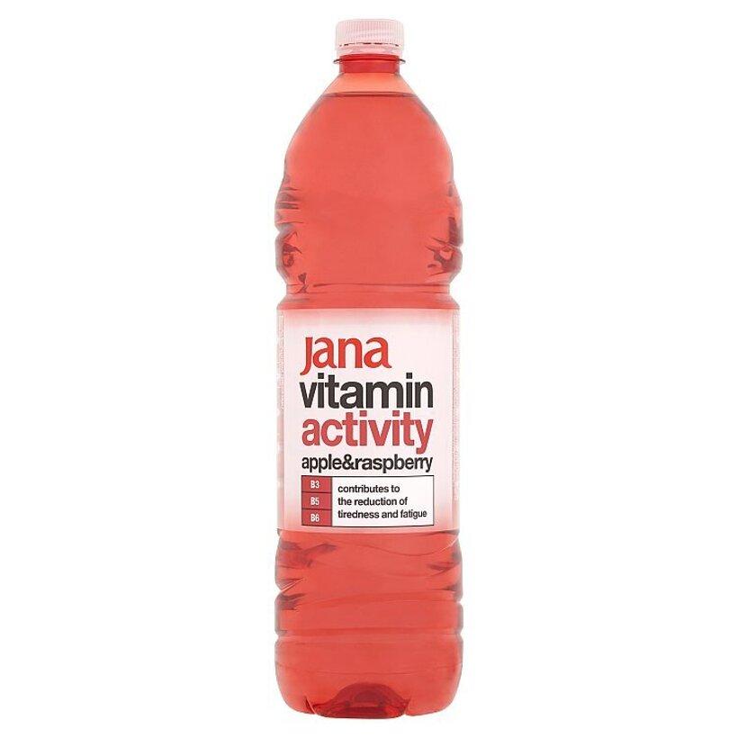 Jana Vitamin Activity nízkoenergetický nesýtený nápoj s arómou jablka a maliny 1,5 l