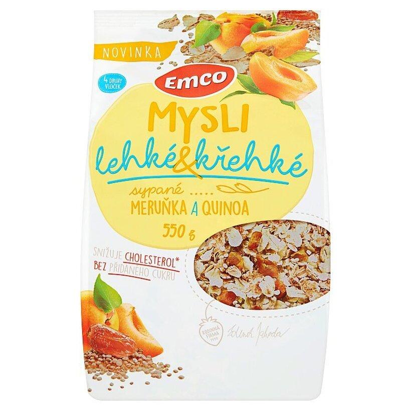 Emco Mysli Ľahké a krehké marhule a quinoa 550 g