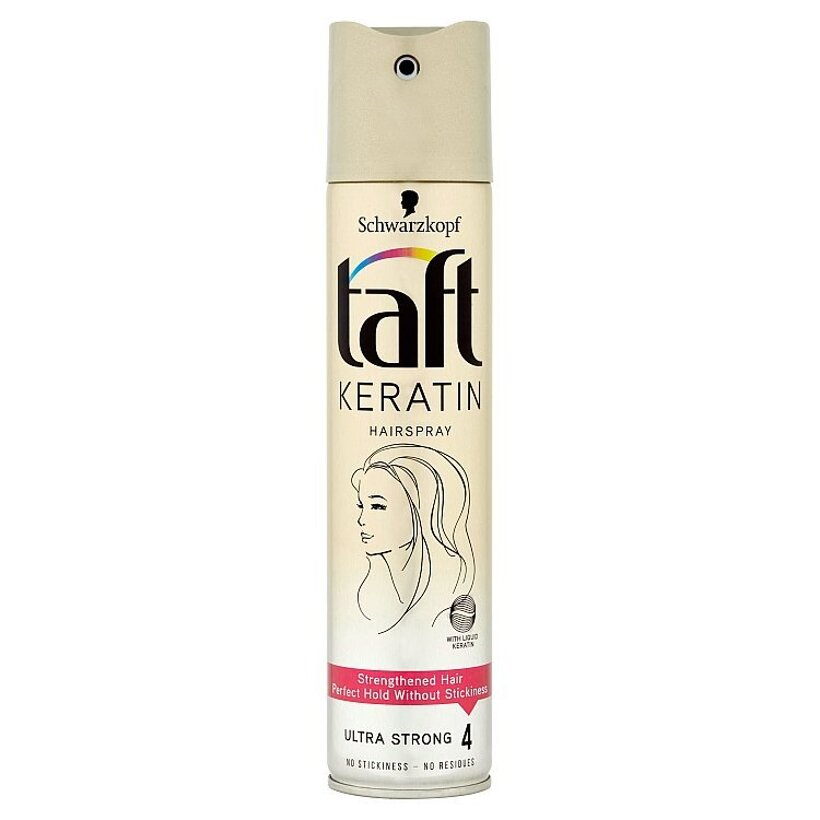 Taft Keratin lak na vlasy Ultra Strong 4 250 ml