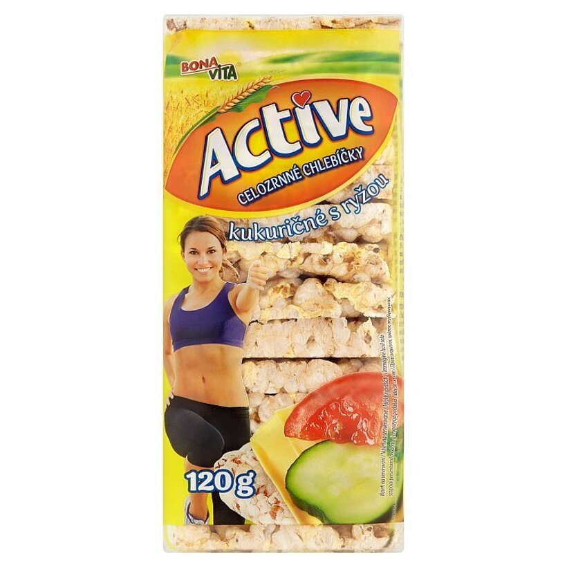 Bona Vita Active Celozrnné chlebíčky kukuričné s ryžou 120 g