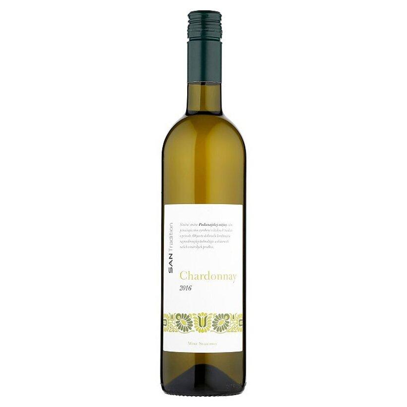 Sanvin San Tradition Chardonnay akostné odrodové víno s prívlastkom neskorý zber biele suché 0,75 l