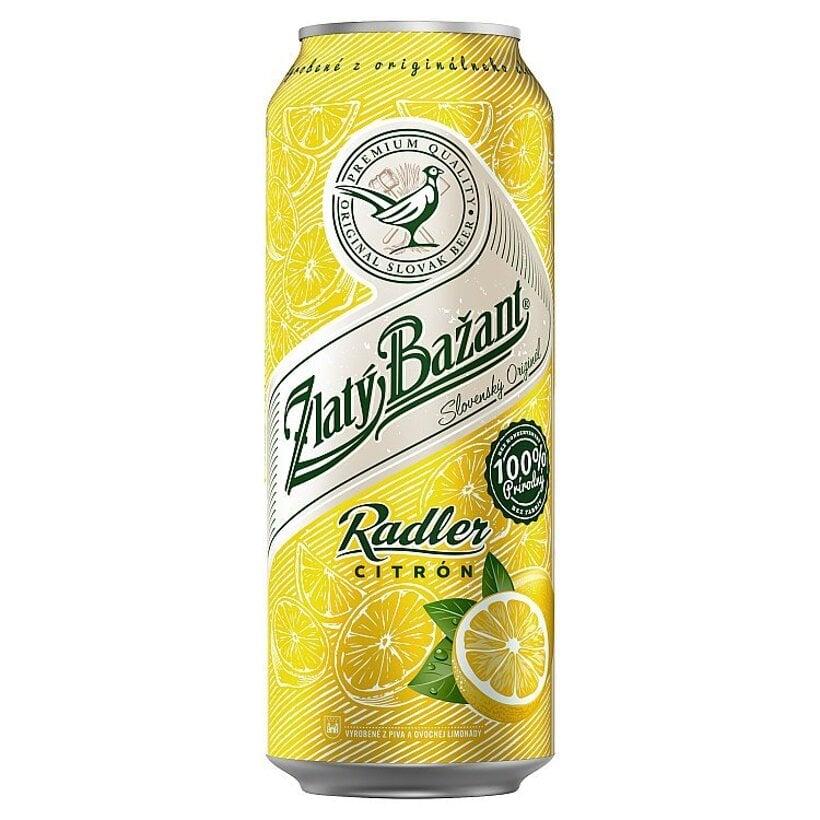 Zlatý Bažant Radler Citrón miešaný alkoholický nápoj 500 ml