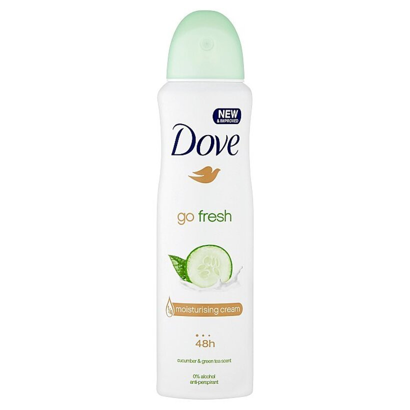 Dove Go Fresh Cucumber & Green Tea antiperspirant sprej 150 ml