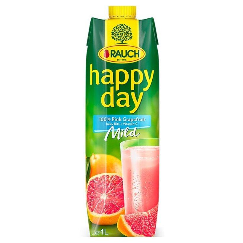 Rauch Happy Day 100% ružový grep s dužinou 1 l