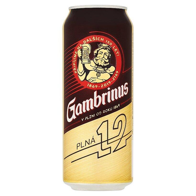 Gambrinus Plná 12 pivo ležiak svetlý 500 ml