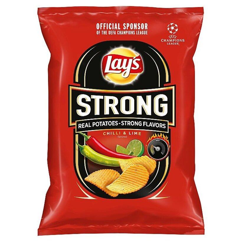 Lay's Strong Vyprážané zemiakové lupienky s príchuťou chilli a limetky 65 g