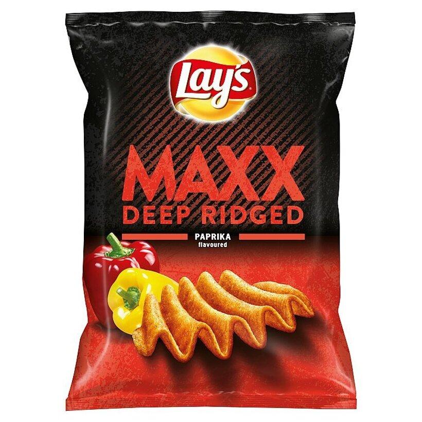 Lay's Maxx Vyprážané zemiakové lupienky s príchuťou papriky 65 g